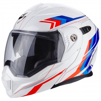 Casque Modulable Scorpion ADX-1 Anima White Red Blue