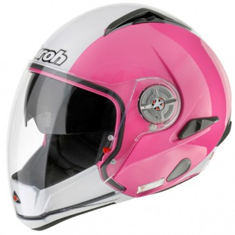 Casque Transformable Airoh J-105 Rose Blanc J105ROBL