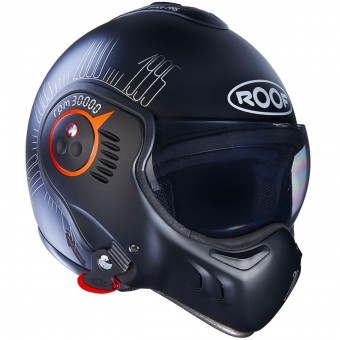 Casque Modulable Roof Boxer V8 1995 Matt Black Fluo Orange