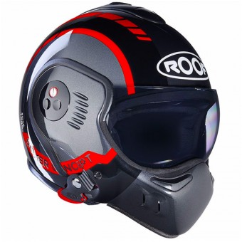 Casque Modulable Roof Boxer V8 LP20 Black Metal Red