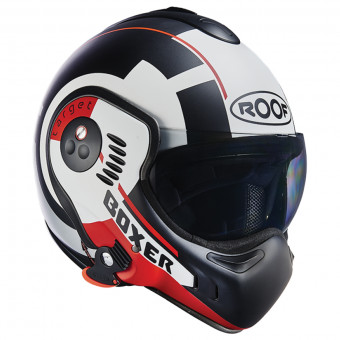 Casque Modulable Roof Boxer V8 Target Matt White Black Red