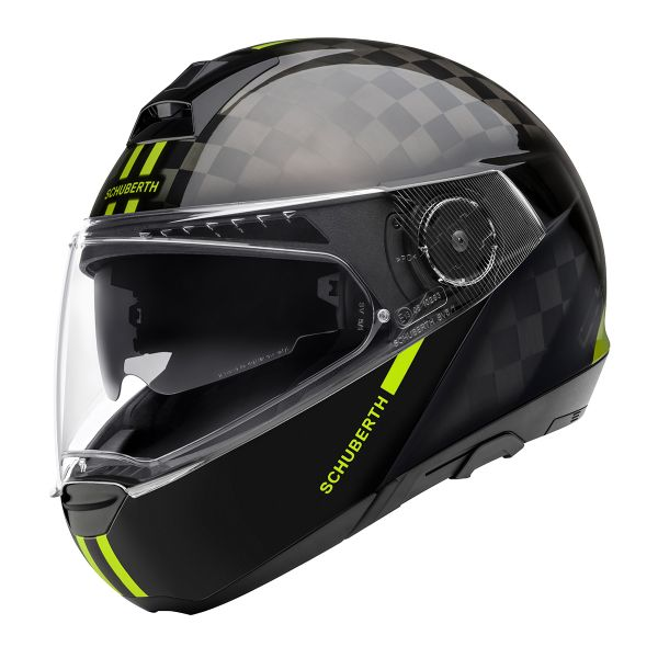Casque Modulable Schuberth C4 Pro Carbon Fusion Yellow