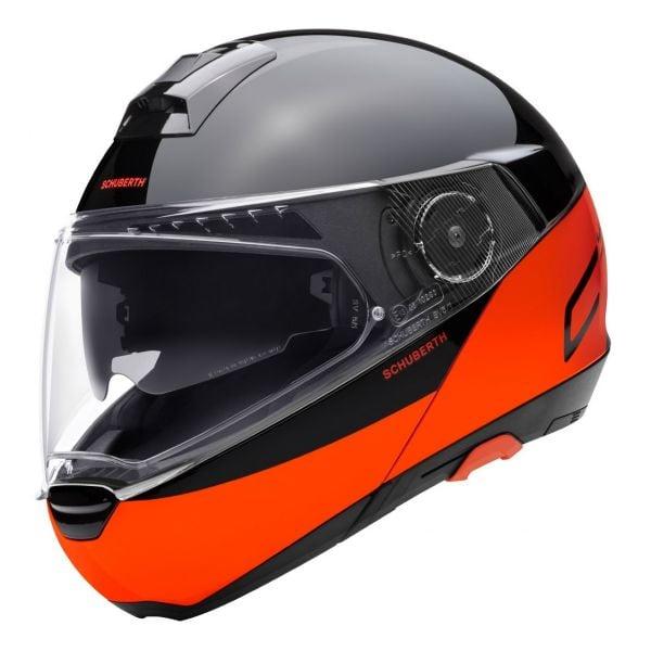 Casque Modulable Schuberth C4 Pro Swipe Orange