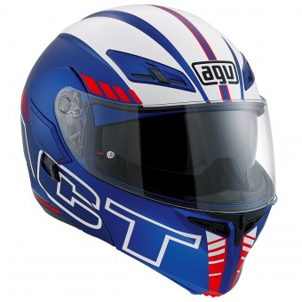 Casque Modulable AGV Compact ST Seattle Matt Blue Red