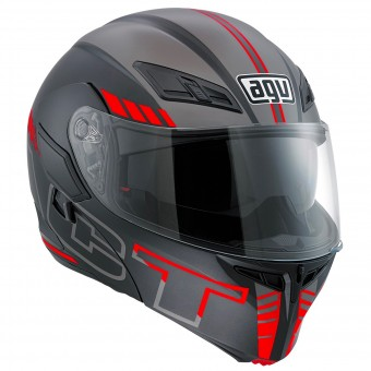 Casque Modulable AGV Compact ST Seattle Matt Silver Red
