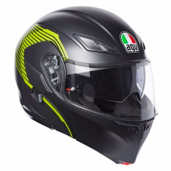 Casque Modulable AGV Compact ST Vermont Matt Black Yellow Fluo