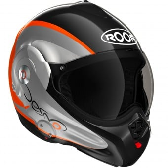 Casque Modulable Roof Desmo Fluo Black Orange 3e Generation
