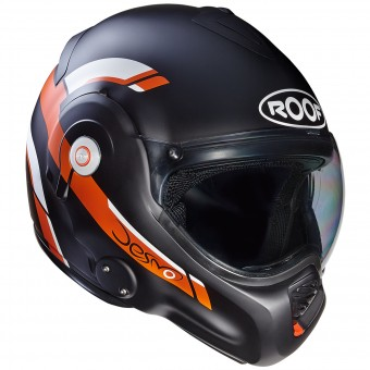 Casque Modulable Roof Desmo Reverso Noir Orange Mat