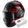 Casque Modulable Shark Evo-One 2 Lithion Dual KUR + Kit Bluetooth Sena SMH5