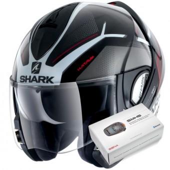 Casque Modulable Shark Evoline Serie 3 Hataum KWR + Kit Bluetooth Sena SMH5