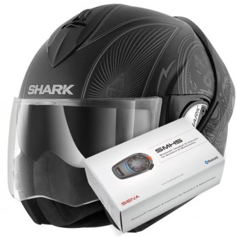 Casque Modulable Shark Evoline Serie 3 Mezcal Mat KAS + Kit Bluetooth Sena SMH5