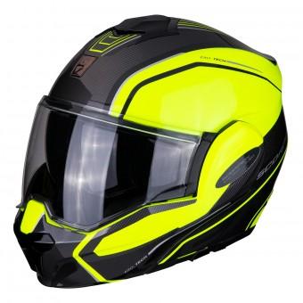 Moto klapphelm Scorpion exo-920 Solid Taille L Jaune Fluo