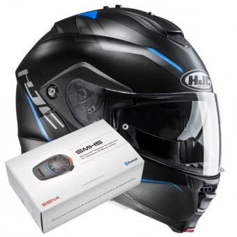 Casque Modulable HJC IS-MAX II Dova MC2SF + Kit Bluetooth Sena SMH5