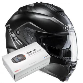 Casque Modulable HJC IS-MAX II Dova MC5SF + Kit Bluetooth Sena SMH5