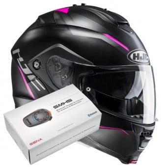 Casque Modulable HJC IS-MAX II Dova MC8SF + Kit Bluetooth Sena SMH5