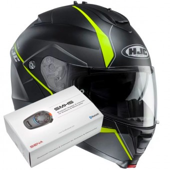 Casque Modulable HJC IS-MAX II Mine MC4HSF + Kit Bluetooth Sena SMH5