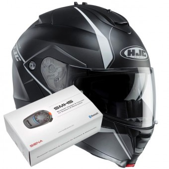 Casque Modulable HJC IS-MAX II Mine MC5SF + Kit Bluetooth Sena SMH5