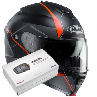 Casque Modulable HJC IS-MAX II Mine MC7SF + Kit Bluetooth Sena SMH5