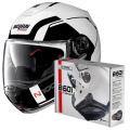 Pack N100 5 Consistency N-Com Metal White 19 + Kit Bluetooth B601R