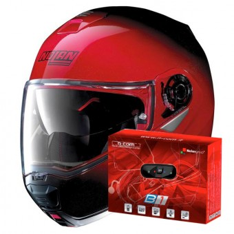 Casque Modulable Nolan N100 5 Fade N-Com Cherry 16 + Kit Bluetooth B1.4
