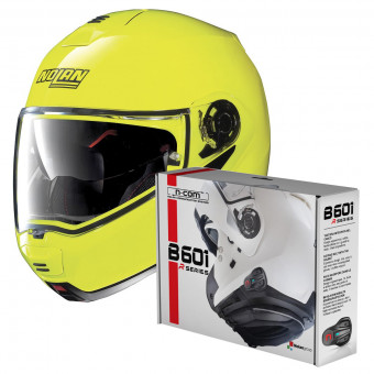 Casque Modulable Nolan N100 5 Hi-Visibility N-Com Yellow Fluo 22 + Kit Bluetooth B601R