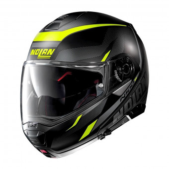 Casque Modulable Nolan N100 5 Lumiere N-Com Flat Black Yellow 37