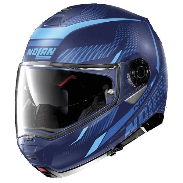 Casque Modulable Nolan N100 5 Lumiere N-Com Flat Imperator Blue 40