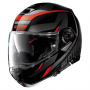 Casque Modulable Nolan N100 5 Lumiere N-Com Glossy Black Red 39