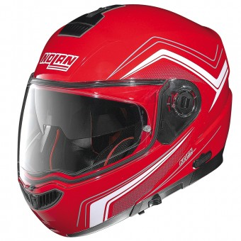 Casque Modulable Nolan N104 Absolute Como N-Com Corsa Red 46