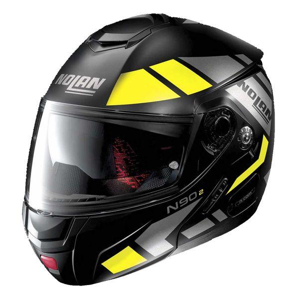 Casque Modulable Nolan N90 2 Euclid N-Com Flat Black Yellow 27