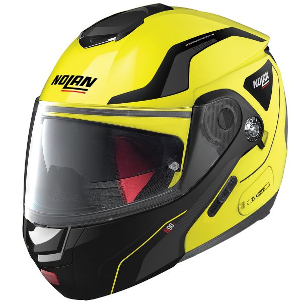 Casque Modulable Nolan N90 2 Straton N-Com Led Yellow 18