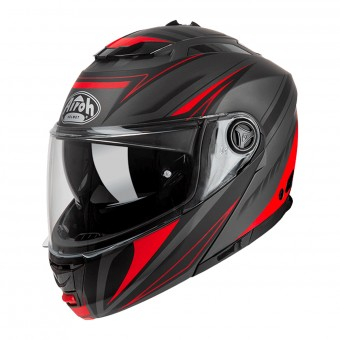 Casque Modulable Airoh Phantom S Triplo Rouge Mat