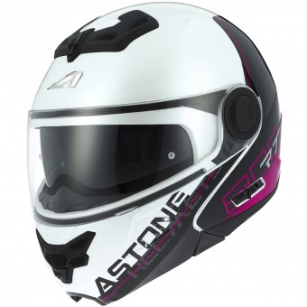 Casque Modulable Astone RT 800 Linetek Pink White