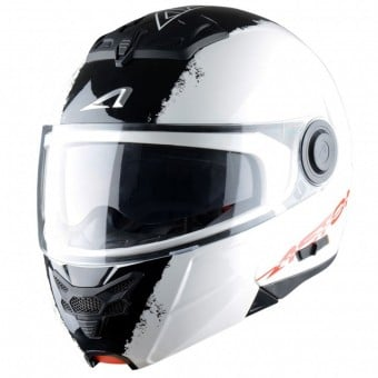 Casque Modulable Astone RT 800 Stripes White Black