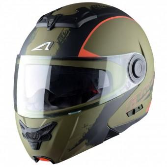 Casque Modulable Astone RT 800 Venom Khaki Black