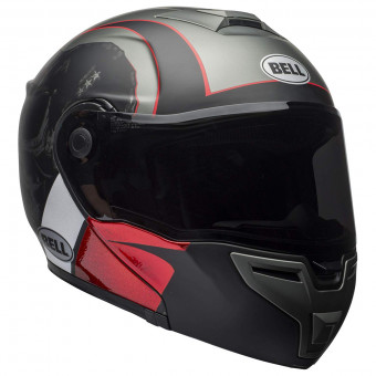 Casque Modulable Bell Srt Modular Hart Luck Charcoal White Red