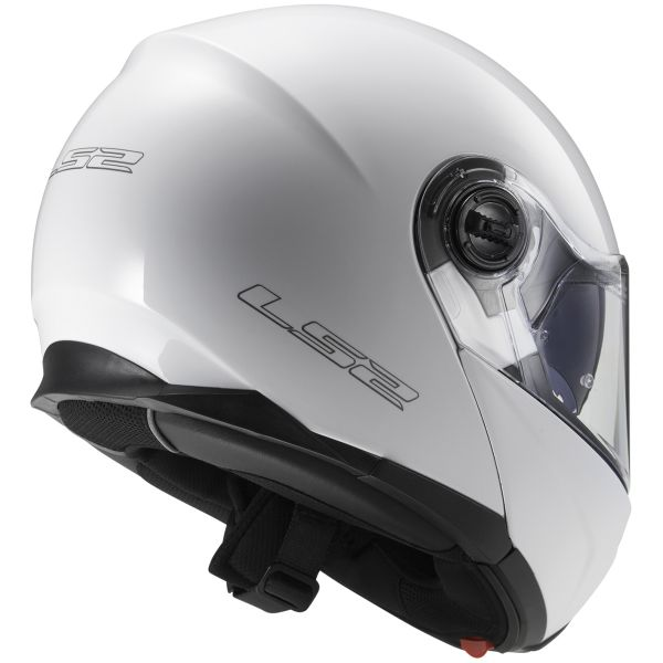 LS2 Strobe White FF325 + Kit Bluetooth Sena SMH5