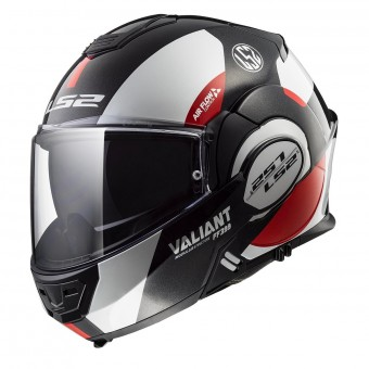 Casque Modulable LS2 Valiant Avant White Black Red FF399
