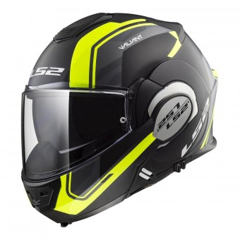 Casque Modulable LS2 Valiant Line Matt Black H-V Yellow FF399