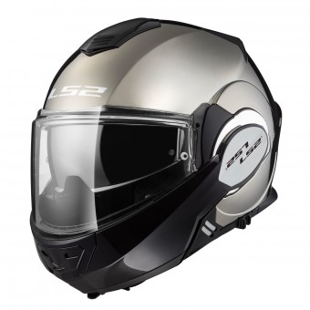 Casque Modulable LS2 Valiant Solid Gloss Chrome FF399