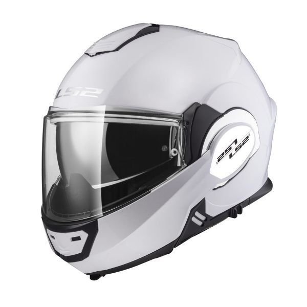 Casque Modulable LS2 Valiant Solid Gloss White FF399