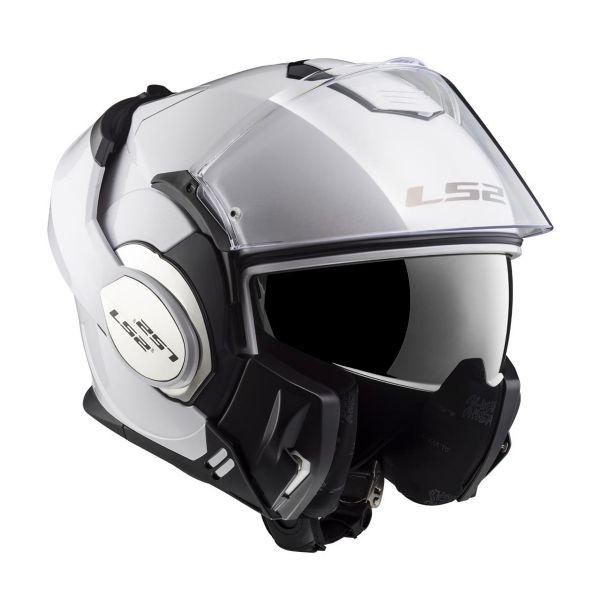 LS2 Valiant Solid Gloss White FF399