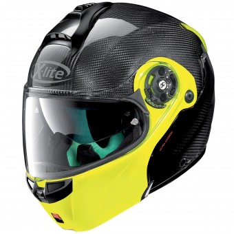 Casque Modulable X-lite X-1004 Ultra Carbon Dyad Fluo Yellow 4