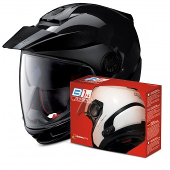 Casque Transformable Nolan N40 5 GT Classic N-Com Black 3 + Kit Bluetooth B1.4