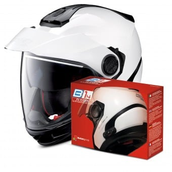 Casque Transformable Nolan N40 5 GT Classic N-Com White 5 + Kit Bluetooth B1.4