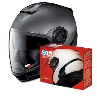 Casque Transformable Nolan N40 5 GT Special N-Com Black Graphite 9 + Kit Bluetooth B1.4