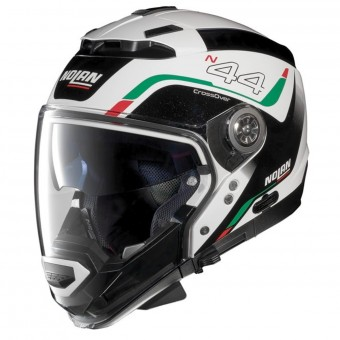 Casque Transformable Nolan N44 Evo Viewpoint N-Com Metal White Italy 53