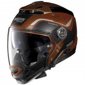Casque Transformable Nolan N44 Evo Viewpoint N-Com Scratched Flat Copper 55