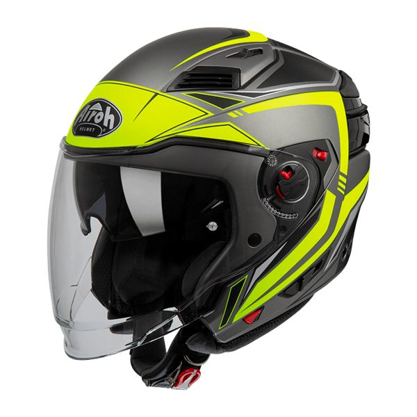 Casque Transformable Airoh Executive Line Jaune Mat