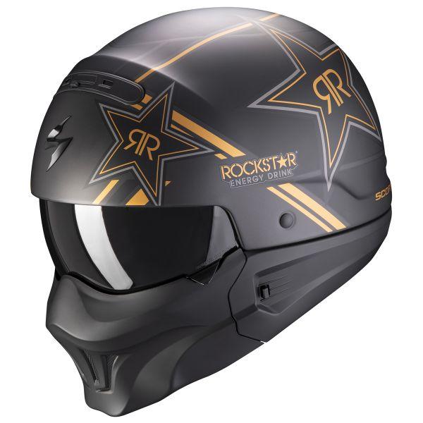 Casque Transformable Scorpion Exo Combat Evo Rockstar Gold